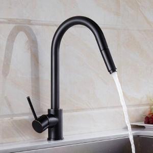 Rubinetto miscelatore lavello monoforo girevole di lusso 360 girevole monocomando rubinetto da cucina LAD-63
