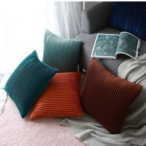 Fodera per cuscino in velluto di lusso a strisce 3D a pieghe decorative Cuscini Custodia Almofadas Cojines Divano Modello Room Essential Car Covers