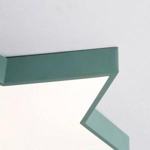 macaron plafoniera colori stella ferro corpo lampada paralume acrilico foyer camera dei bambini lampada da soffitto apparecchio di illuminazione a LED Promozione