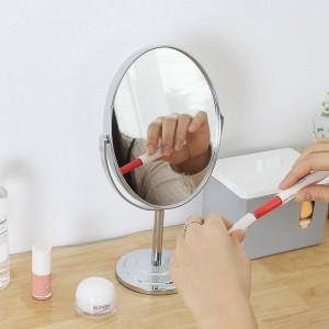 Specchio da trucco ovale rotondo da tavolo specchio da tavolo semplice da donna in metallo specchio a doppia faccia vanità wx8281449