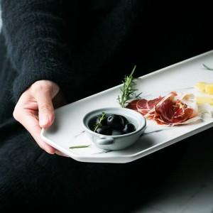 Piastra portaoggetti per ufficio in ceramica di marmo Vogue minimalista colore chiaro Ottagono Scrivania Varie Gioielli Portaoggetti per alimenti Home Organizer
