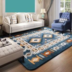 Coperta mediterranea, soggiorno, camera da letto, comodino, coperta con una tovaglia da tè, moderna coperta rettangolare minimalista