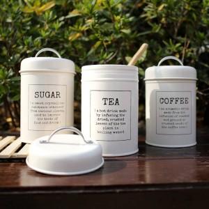 Vaso portaoggetti in metallo colorato sigillo classico minimalista Nordic Desktop Storage Bottle Home Organizer Caffè Sugar Tea Contenitore