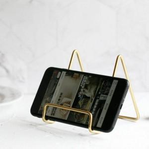 Mensola portaoggetti in metallo dorato Vogue Supporto moderno Scrivania in ferro nordico Portaoggetti per telefono cellulare per organizer PAD Home