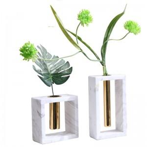 Vaso di marmo in metallo Nuova decorazione della decorazione domestica Accessori per la casa morbidi creativi