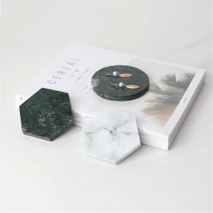 Tavolino da ufficio minimalista in marmo con motivo geometrico Geometria Chic scandinavo Nordic Ceramic Desk Storage Tray Organizer Decor
