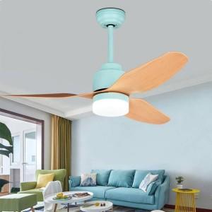 Moderna luce a ventaglio invisibile da 42 pollici per soggiorno Fan Light Loft con lampadina E27 Lampada a soffitto 220V Decorazione Lampade da soffitto per camera da letto