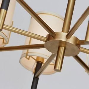 Moderna lampada a sospensione a 8 teste creativa E14 3W Lampadina LED LED droplight Living Home Light Fixture negozio stile semplice