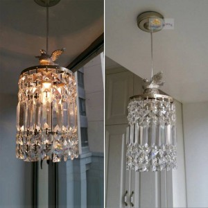 Moda moderna Lampada a sospensione in cristallo singolo soggiorno moderno lampade camera da letto decorazione della casa lampade di illuminazione