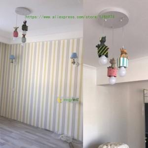 Camera da letto moderna a led Lampade per bambini americane ragazzo ragazza Lampada da camera da letto del fumetto E27 Illuminazione a sospensione Illuminazione natalizia