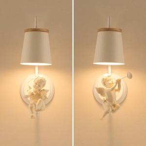 Lampada da parete moderna a Led Angelo Lampada per bambini Applique Illuminazione nordica Lampade da camera da letto Lampade da parete per ufficio a led Lampada da comodino