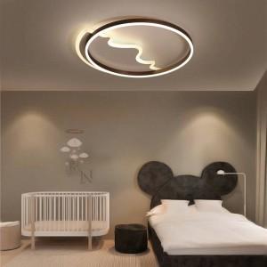 Plafoniere a led moderne telecomando per soggiorno camera da letto baby cloud a forma di cuore rotonde plafoniere colorate abajur
