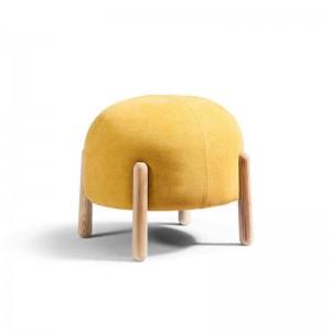 Sgabello moderno in tessuto Sgabello per soggiorno Scarpa per cambio Sgabello Negozio di abbigliamento con poggiapiedi