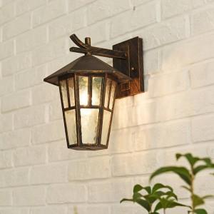 Lampade a soppalco moderne Lampada da parete per esterno vintage Esagonale Semplice applique per esterno e27 Lampada da cortile impermeabile Lanterna balcone