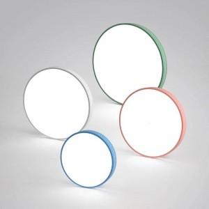 Plafoniera moderna Macaron tondo colorato ferro lampada corpo acrilico paralume foyer camera dei bambini lampada da soffitto apparecchio di illuminazione a LED