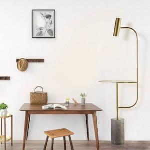 Moderna lampada da terra in marmo con tavolo regolabile ad angolo nero colore nero Interruttore a pedale E27 Faretto a led bianco naturale 4000K caldo