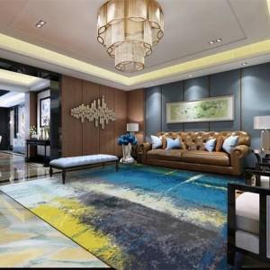 Moquette moderna minimalista astratta salotto tavolino camera da letto tappeto nordico rettangolare tappeto personalizzato