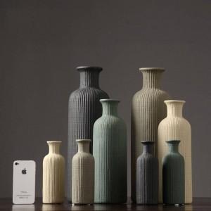 Vaso di ceramica minimalista moderno Moda floreale Disposizione decorazione della casa Soggiorno Vaso vegetariano decorazione
