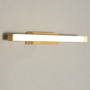 Lampada da specchio moderna lampada da parete impermeabile 40 cm 60 cm 80 cm luce specchio bagno di alta qualità a parete AC220V ingresso bianco 6000K