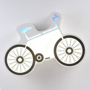 Plafoniere moderne a LED semplici Lampada da soffitto bianca per biciclette Lampada da parete per bambini creativa a LED