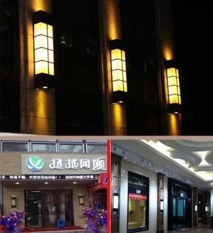 Lampada da giardino moderna verticale in marmo Lampade da parete per esterno impermeabili Luci per esterni Villa Project cortile illuminazione esterna E27 Led abajur