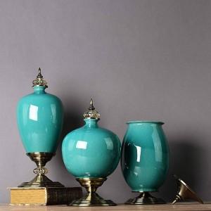Ornamenti in ceramica minimalista moderna neoclassica Vase Home Decorazioni per mobili TV morbidi