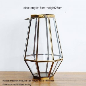 Portacandele neoclassico Cena a lume di candela in vetro Luce notturna Vento leggero Aromaterapia Candela Base Decorazione domestica Artigianato