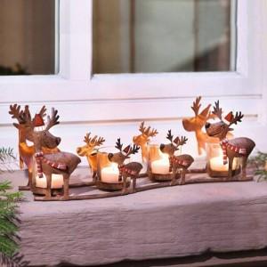 Portacandele neoclassico Iron Art Alk Tazza a lume di candela Luce Luce Decorazione natalizia Ornamento Artigianato Candeliere Statua