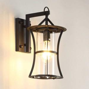 New American country Outdoor Applique Portico Impermeabile Edison Lampada a led retro ingegneria industriale Applique Illuminazione