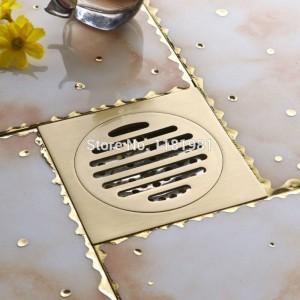 New Antique Europe Anti-insetticida Deodorizzazione Capelli Puro rame Cromo Cast Toilette Bagno Doccia Scarico a pavimento FD-8
