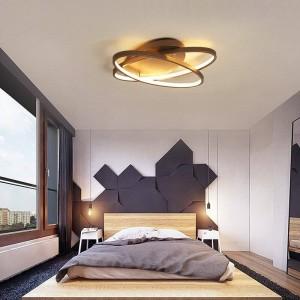 plafoniera moderna a led caffè e lampada a led di colore bianco per il corpo in alluminio camera studio camera