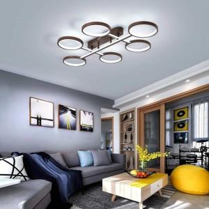 Nuovo arrivo moderno lampadari a led luci per soggiorno camera da letto sala studio casa colore del caffè cornice lampade da interno dero