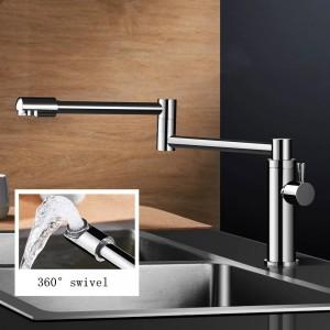 Nuovi rubinetti da cucina in ottone Rubinetto singolo acqua fredda per cucina Miscelatore monocomando acqua 360 Ruota Lavello Rubinetto Riempitore L-888