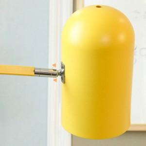 Nuova lampada da terra classica decorazione soggiorno macarons lampada in metallo colorato lampada corpo lampada paralume comodino camera da letto illuminazione a LED