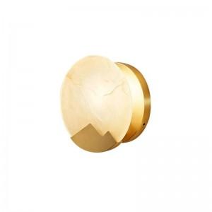 Nuova lampada da parete classica in marmo Lampada da parete a parete in metallo placcato oro chiaro montata a parete per la casa