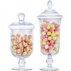 Nuovo barattolo di caramelle di vetro creativo con coperchio serbatoio di stoccaggio bottiglia da dessert dessert coppa gelato decorazione finestra Lattine