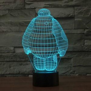 New large white people Lampada da tavolo a LED Lampada da tavolo notturna stereoscopica in acrilico con decorazioni colorate a LED con interruttore touch