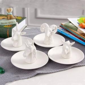 New stile nordico antilope gioielli piatto anello gioielli in ceramica collana vassoio scatola di immagazzinaggio decorazione desktop artigianato gioielli