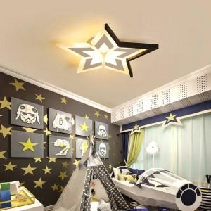 Nuove stelle / luna / nuvole soffitto moderno per camerette camera da letto luminaria de teto Plafoniere bianche / nere