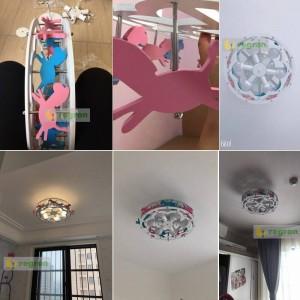 Nuove plafoniere a LED Trojan Ragazzi e ragazze Principessa Lampada da camera per bambini Lampade per camera da letto Illuminazione creativa per cartoni animati