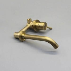 Nuovo rubinetto a muro in ottone rubinetto monocomando miscelatore rubinetto dell'acqua calda bagno freddo bronzo rosso nero / rubinetto antico XR8228