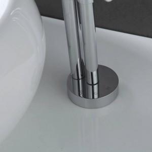 Il più nuovo design moderno in ottone massiccio rubinetto da bagno alto lucido rubinetti per lavabo alto cascata bacino rubinetto laterale XR801B