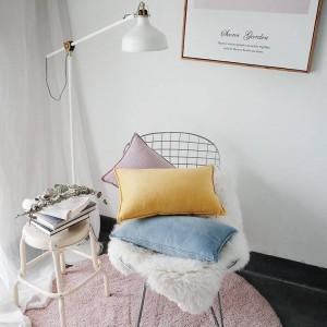 Fodera per cuscino stampato in velluto nobile Designer Luxury Luxury Decorative Pillows Case Almofadas Cojines Sofa Solid Blue Yellow Car Covers