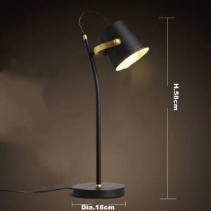 Nordic Brief lampada da tavolo moderna Lampada da scrivania creativa Iron art nero E27 lampada a led studio camera da letto apparecchio di illuminazione casa Lampada da lettura