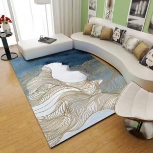 Nordic Carpet Living Room Modern Simple Tea Table Carpet Net su misura Camera rossa camera da letto piena di tappeti