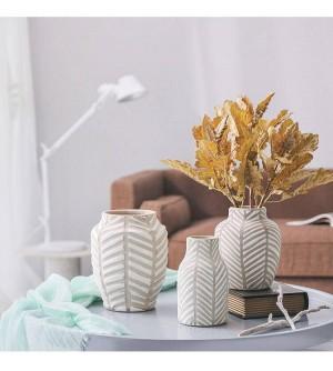 Vaso in ceramica nordica Moderno vaso di argilla europeo Fiore TV Armadietto Soggiorno Sala da pranzo Ornamenti per la decorazione domestica