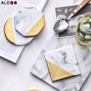 Tavolo da ufficio in ceramica nordica Piatto da cucina Chic scandinavo Vogue Elegante lusso oro Scrivania Vassoio portaoggetti Organizer Decor