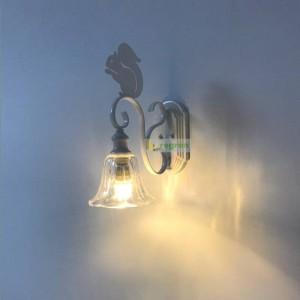 Lampada da parete scoiattolo nordico carino creativo personalità moderna per bambini Applique da parete Sconce scale a led in ferro battuto lampade a led