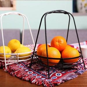 Soggiorno nordico Cesto di frutta creativo Cesto di frutta in acciaio inossidabile Cesto di frutta moderno e minimalista Cestino da tavolo