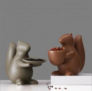 Nordic soggiorno decorazione accessori per la casa scoiattolo in ceramica tavolino piatto di frutta creativo moderno soggiorno chiave deposito